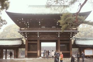 L'entrée du sanctuaire Meiji Jingu