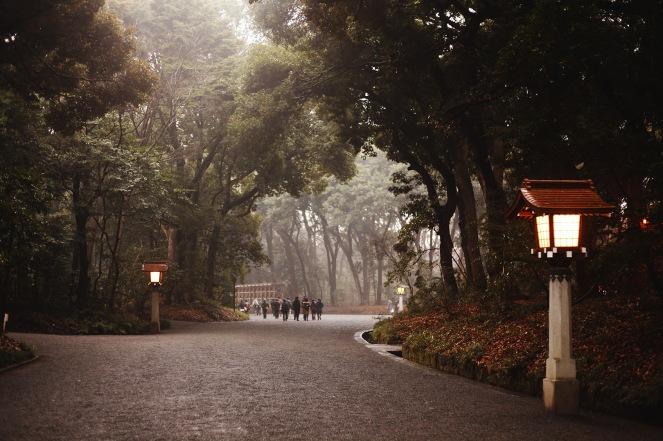 La magnifique allée qui mène au sanctuaire