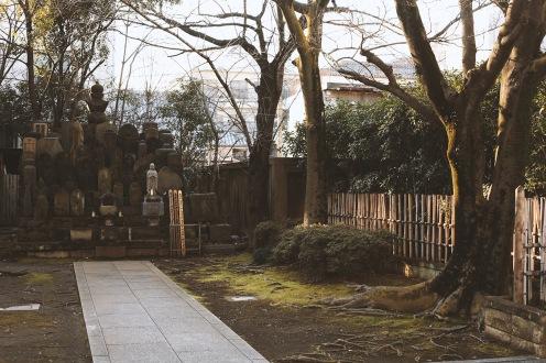 Jardins et cimetières dans le quartier d'Asakusa