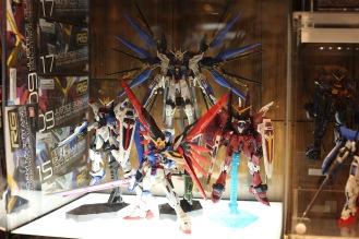 Les fameuses figurines Gundam !
