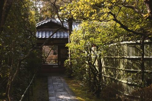 Les jolis labyrinthes du Monastère bouddhique Daitoku-Ji à Kyoto