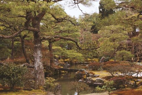 Les superbes jardins du Temple Ginkaku-Ji à Kyoto
