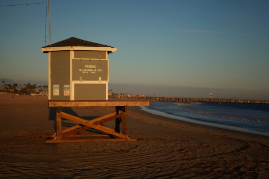 Seal Beach au coucher de soleil