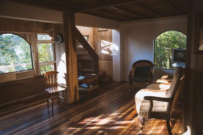 La salle commune du rez de chaussé chez Casa Alquimia