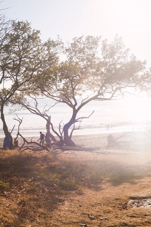 Coucher de soleil sur la discrète Playa Negra